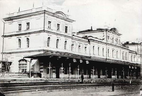 Самара Вокзал Оренбургской железной дороги 1881
