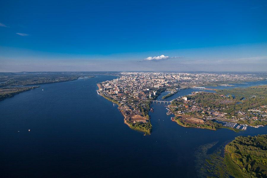 Две реки. Волга. Самара.