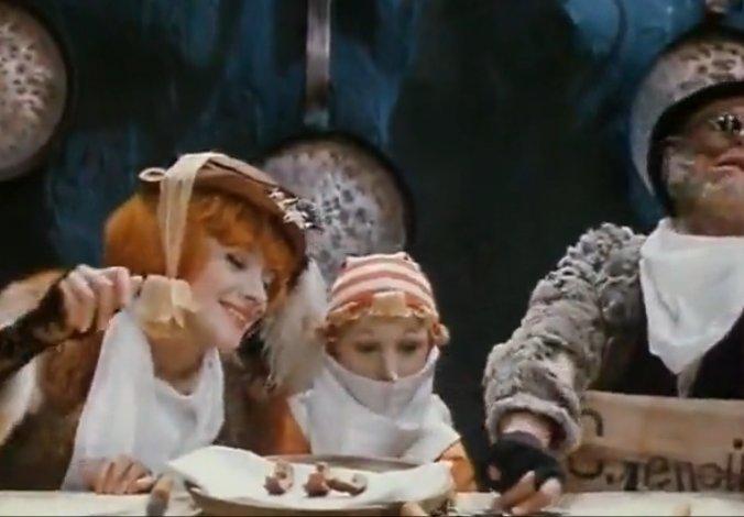 Кот Базилио и Лиса Алиса (кадр из фильма Приключения Буратино), поставленного по книге А.Толстого