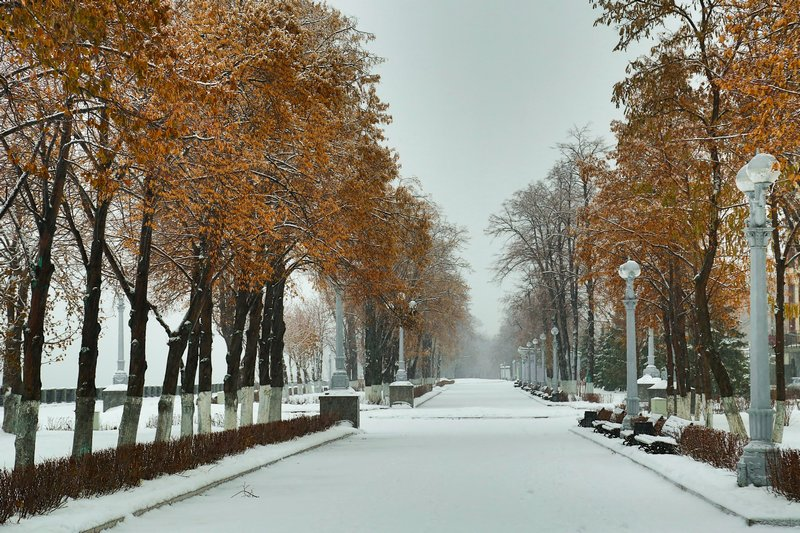 Набережная в Самаре зимой